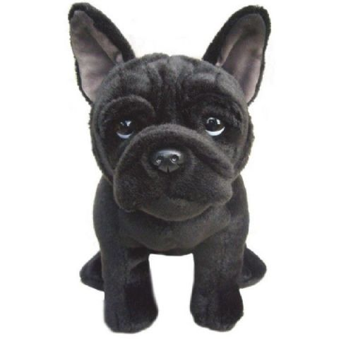 "French Bulldog Black quality hand made cuddly 12"" Soft Toy Dog"